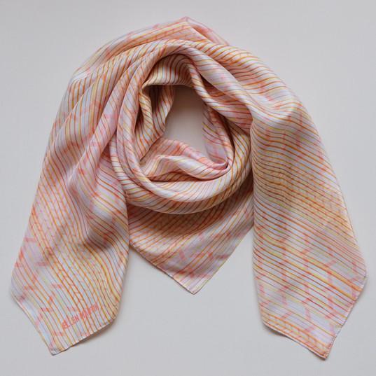 Pleat Printed Textiles Silk Scarves
