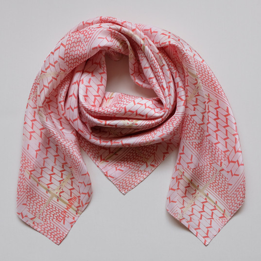 Geometric Printed Textiles Silk Scarf