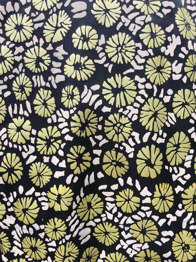 Screen Printed Coral Pattern Textiles