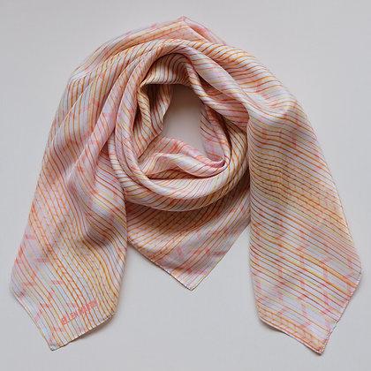 Pleat Silk Scarf