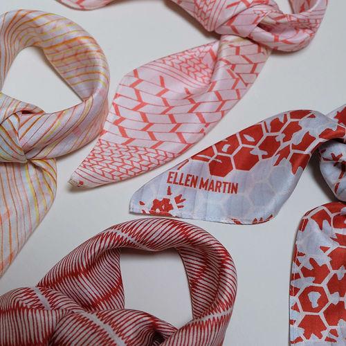 Printed Textile Silk Scarves