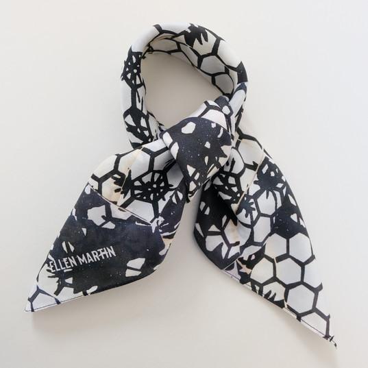 Mono Printed Textiles Silk Scarf