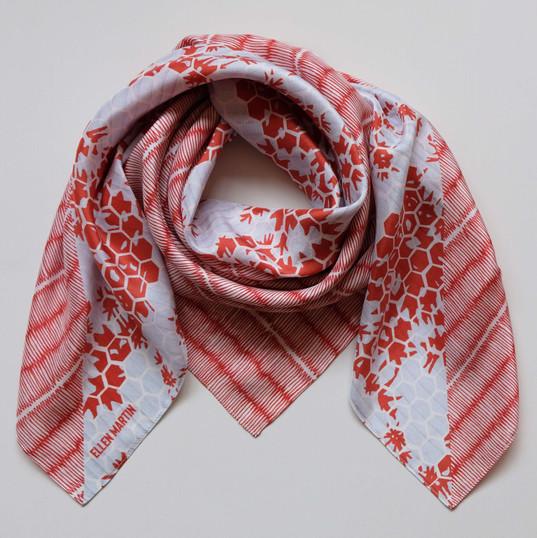 Tatami Printed Textiles Silk Scarf