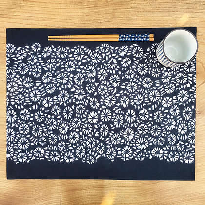 Coral Table Mat - Navy