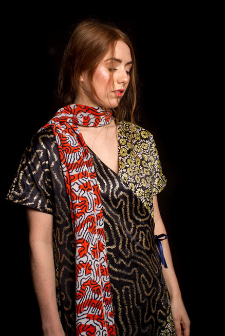 Printed Coral Pattern Fashion Show