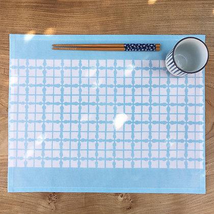 Grid Table Mat - Pale Blue