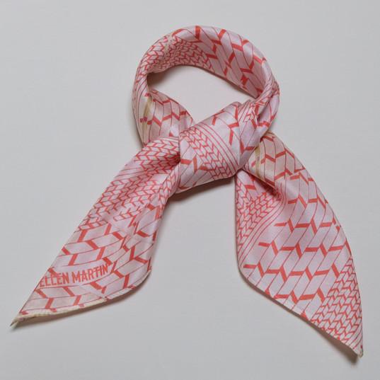 Geometric Printed Textiles Silk Scarves