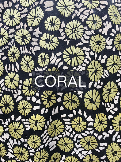 Coral Printed Textiles Text