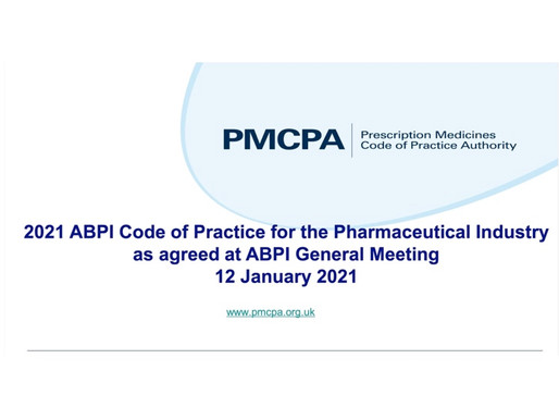 Forthcoming 2021 ABPI Code of Practice