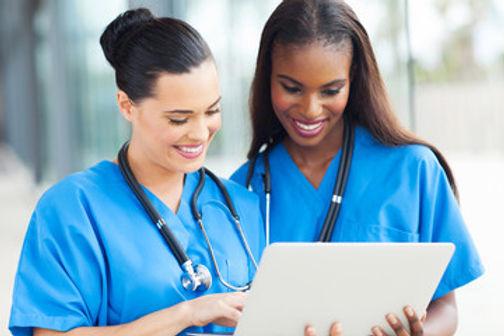 2 nurses talking