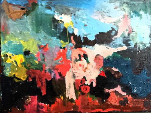 Abstracted Dusk 2018 36x48 Oil on Canvas