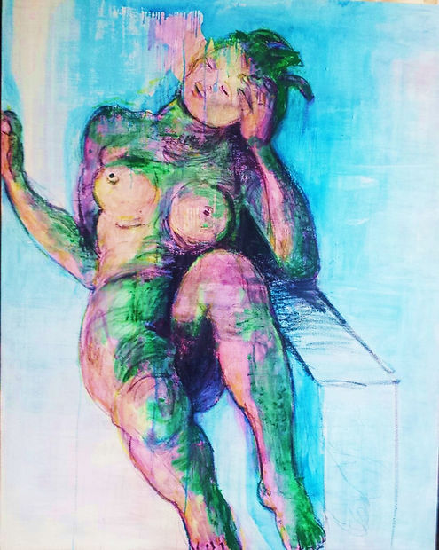 After a Sculpture 2016 48x60 Oil on Canv