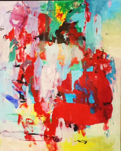 Red Abstract 2016 48x60 Oil on Canvas So