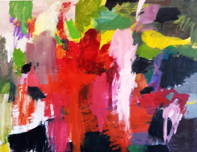 Abstract Thoughts 2015 50x55 Oil on Canv