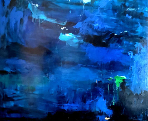 Blue Landscape 48x60 Oil on Canvas $2500