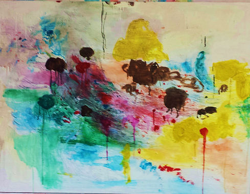 Abstract Landscape 2015 36x30 Oil on Can