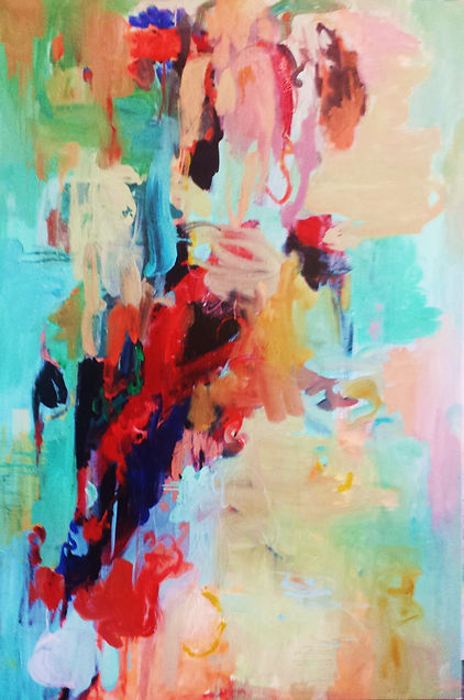 NEED PRICE Abstract 2016 48x72 Oil on Ca