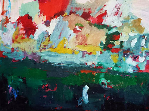 Abstract Landscape 2015 48X36 Oil on Can