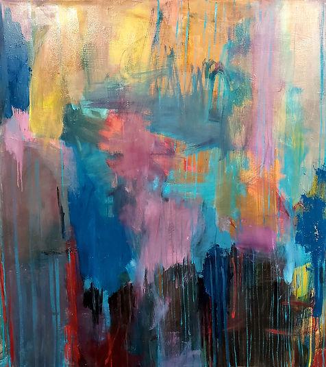Blue Rain 55x60 Oil on Canvas $3000