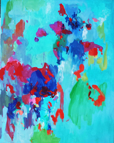 Blue Abstract 2016 48x60 Oil on Canvas S