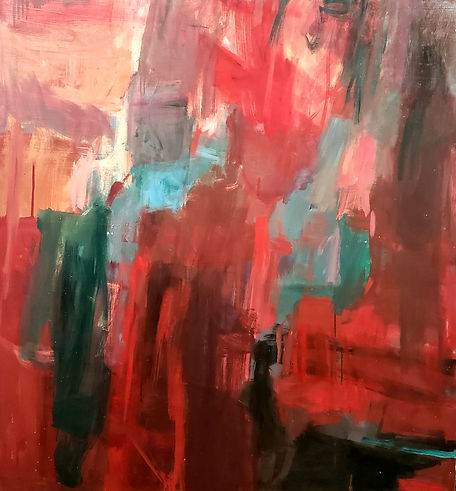 Red Spaces 50x55 Oil on Canvas $900