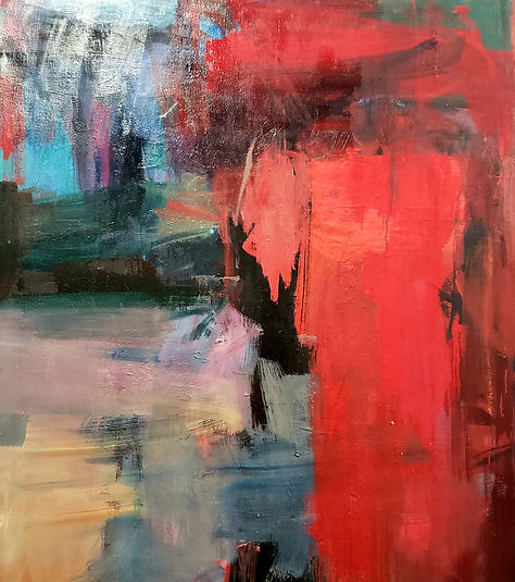 Red 60x50 Oil on Canvas $3800