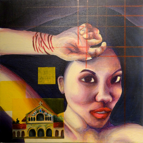 """3/2013; 12""""x12""""; acrylic, water-based ink on canvas  NOT FOR SALE."""