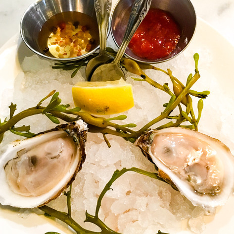 Oysters from Seaside Metal Oyster Bar