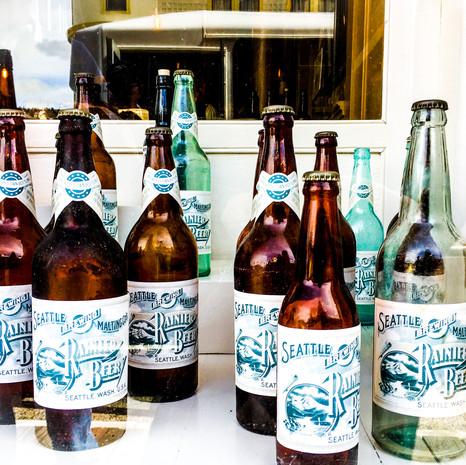 Rainier Beer Bottles
