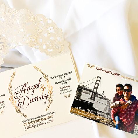 Auer Wedding Invitation & RSVP Card