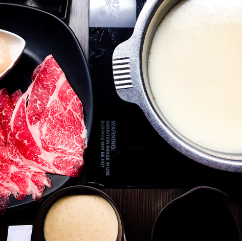 Hot Pot and Meats from One Pot Shabu Shabu