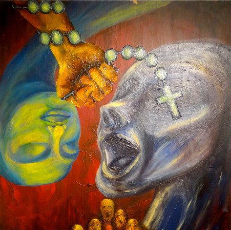 """1/2013; 28""""x22""""; acrylic on canvas  NOT FOR SALE."""