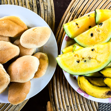 Pan De Sal, Yellow Watermelon, Senorita Bananas from Dragonfly - El Nido