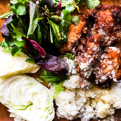 Garlic Miso Fried Chicken Rice Bowl from Aburaya
