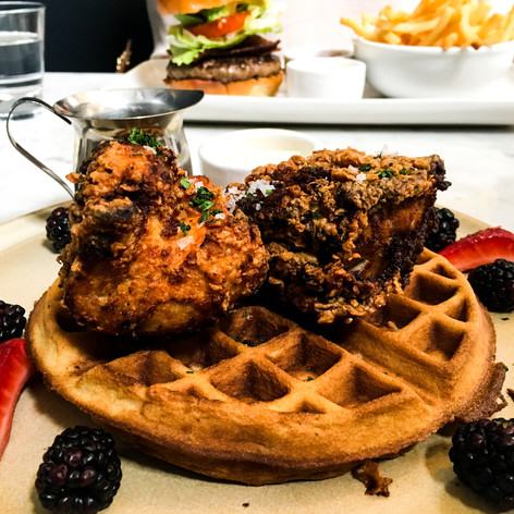 Southern Fried Chicken & Waffles from The Elite Cafe