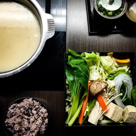 Hot Pot and Veggies from One Pot Shabu Shabu