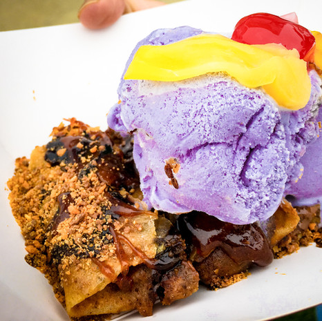 Choc-Nut Turon with Ube Ice Cream from Turontastic
