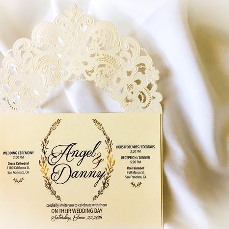 Auer Wedding Invitation