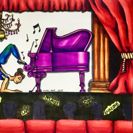 """Mary plays the piano."""