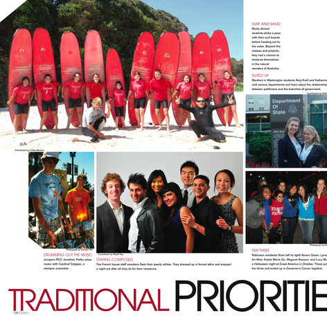 Stanford University Yearbook: Classes Section Spread (2 pages)