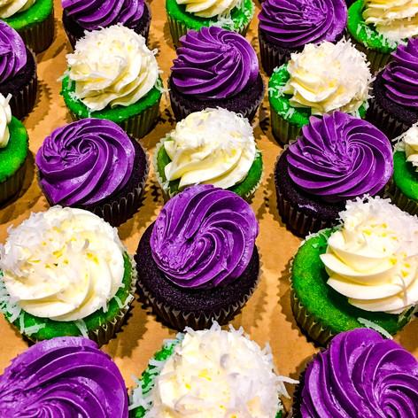 Ube and Buko Pandan Cupcakes from Marley's Treats
