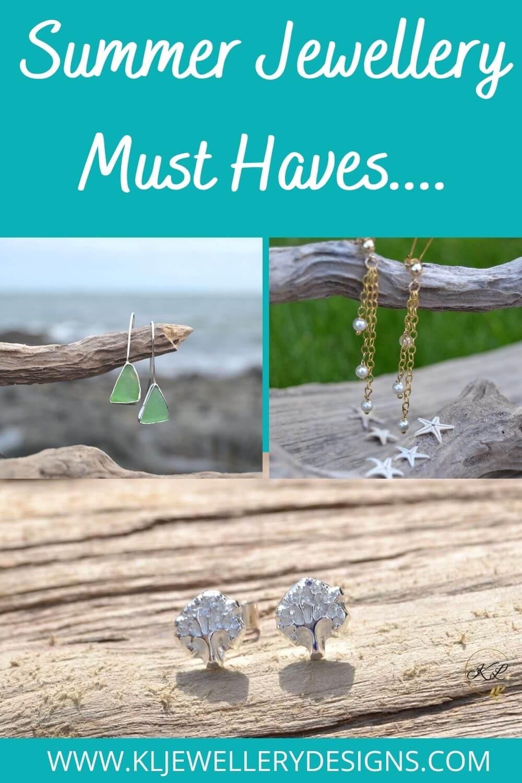 Handmade silver earrings perfect for summer.