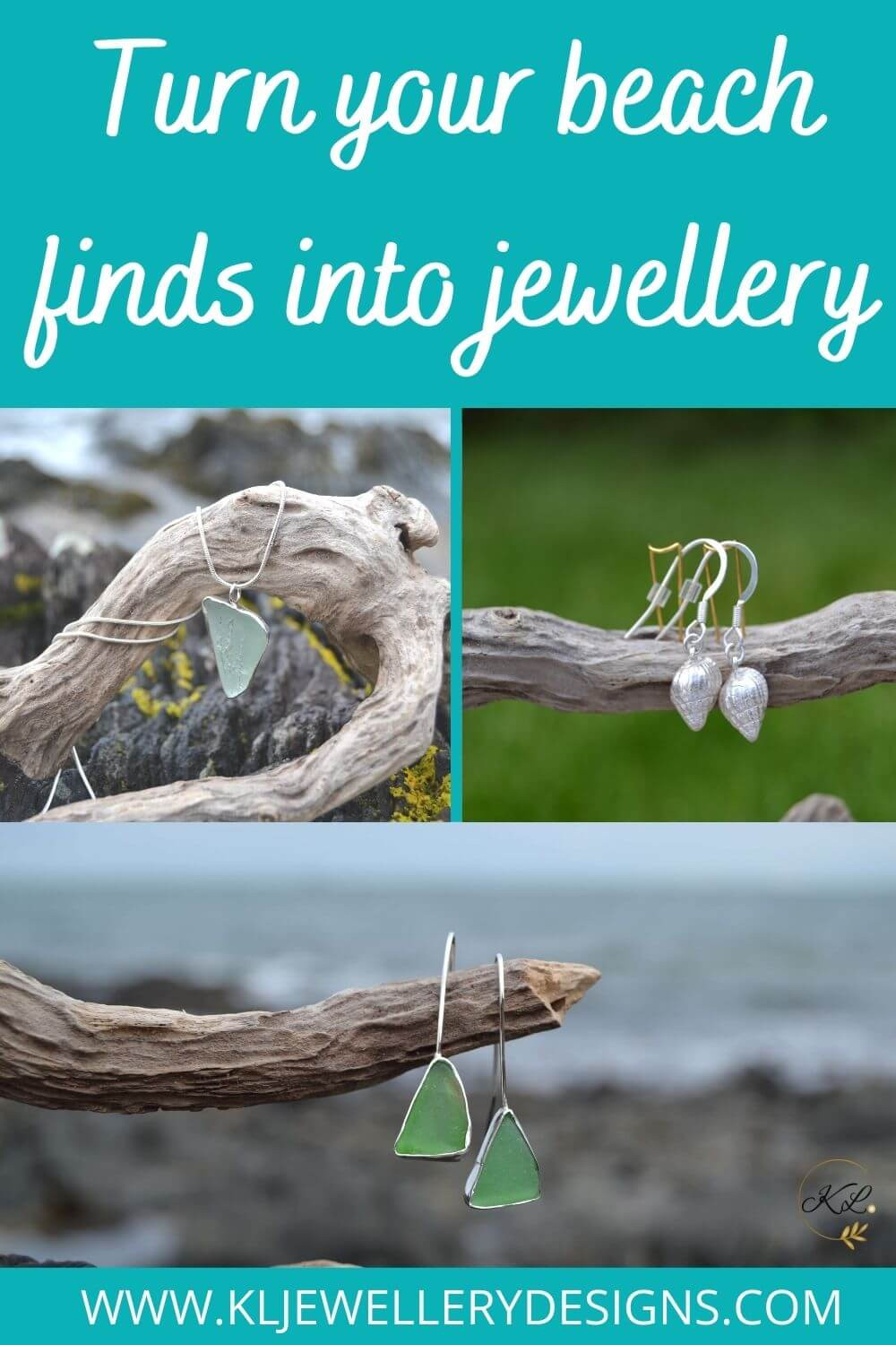 Sea glass makes beautiful jewellery and keeps those special summer memories arrive forever but did you also know you can use shells to form a mould and make jewellery giving you the authentic texture...