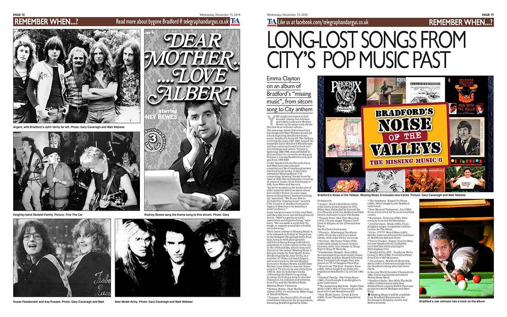Bradford's Noise Of The Valleys Missing Music 6 CD