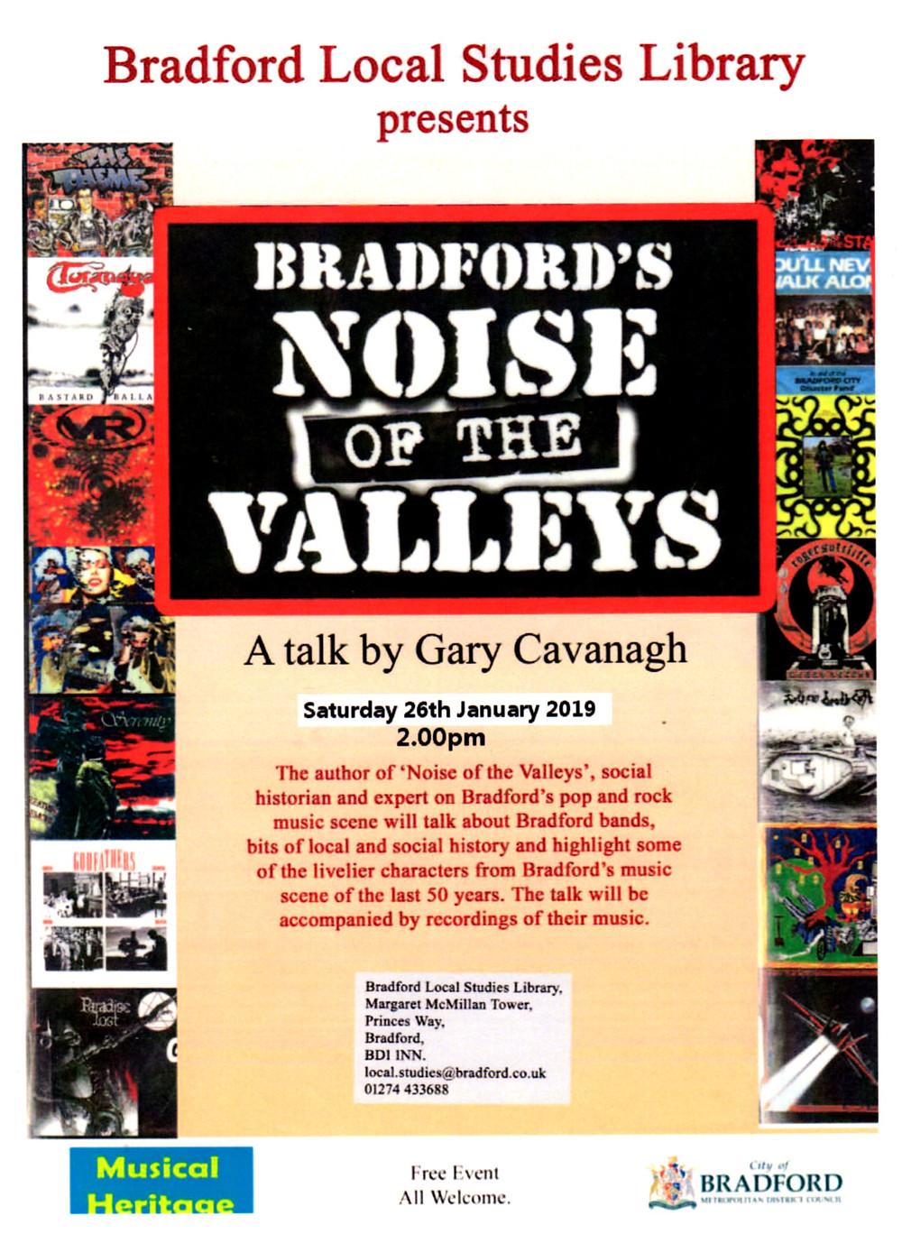 Bradford Noise Gary Cavanagh talk