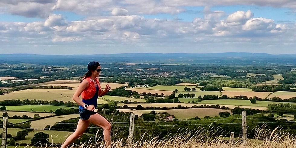 She Runs Outdoors Cissbury Ring to Chanctonbury Ring 14km Women's Trail run