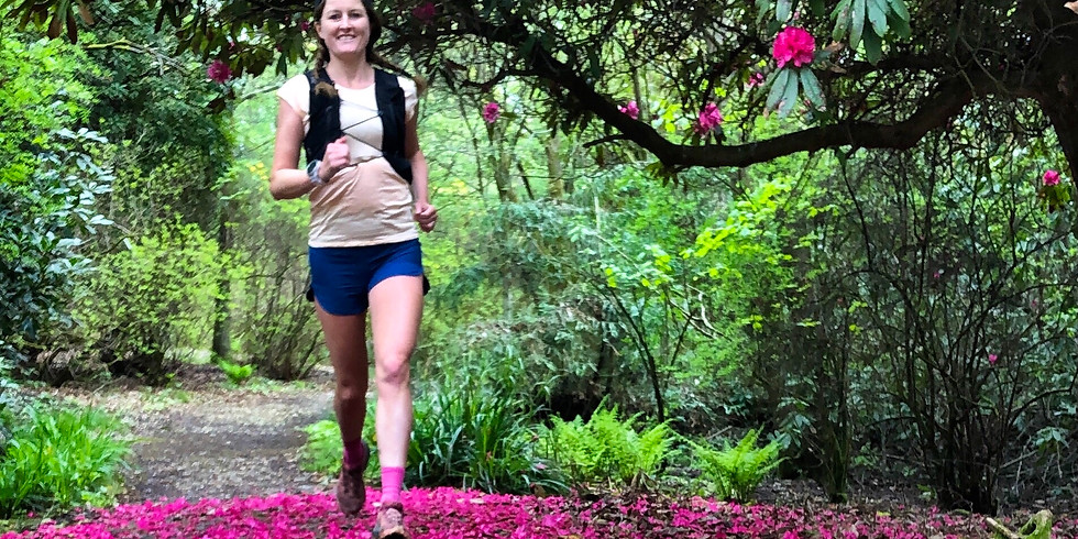 She Runs Outdoors Leith Hill Rhododendron and Bluebells, Pasture Woods and Tower 10km Women's Trail Run