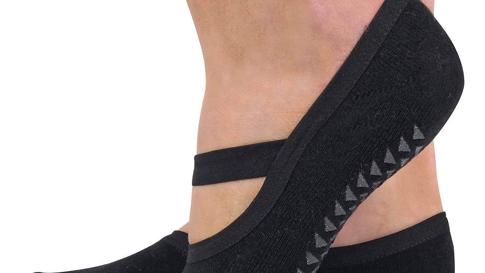 2 Pk Ladies Non Slip Yoga Socks with Strap