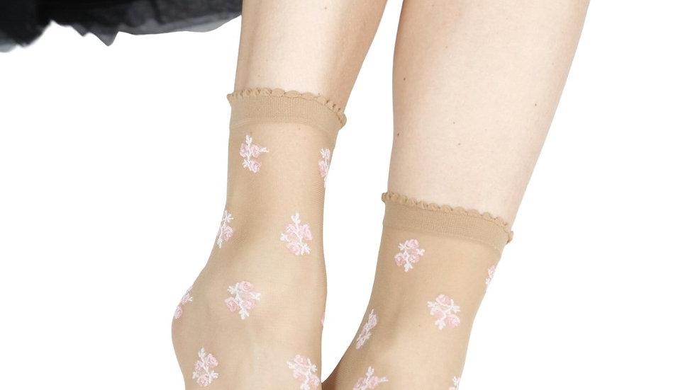 ABELE 20DEN sheer beige socks