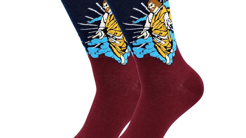 Sick Socks -Jesus – Holy Socks - Off The Wall Casual Dress Socks